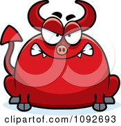 Clipart Chubby Mad Devil Royalty Free Vector Illustration