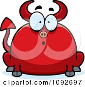 Clipart Chubby Surprised Devil Royalty Free Vector Illustration