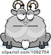 Clipart Chubby Bored Goat Royalty Free Vector Illustration