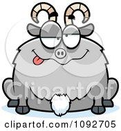 Clipart Chubby Goofy Goat Royalty Free Vector Illustration