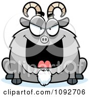 Clipart Chubby Evil Goat Royalty Free Vector Illustration