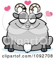 Clipart Chubby Goat In Love Royalty Free Vector Illustration