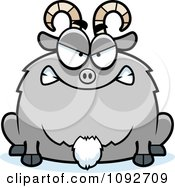 Clipart Chubby Mad Goat Royalty Free Vector Illustration