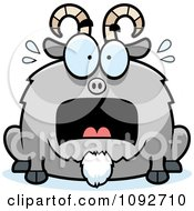 Clipart Chubby Scared Goat Royalty Free Vector Illustration