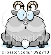Clipart Chubby Surprised Goat Royalty Free Vector Illustration