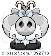 Clipart Mad Gray Goat Royalty Free Vector Illustration