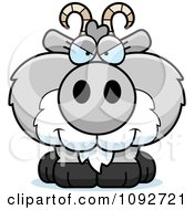 Clipart Sly Gray Goat Royalty Free Vector Illustration