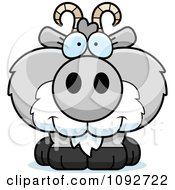 Clipart Cute Gray Goat Royalty Free Vector Illustration