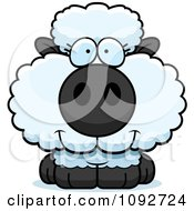 Clipart Cute Baby Sheep Royalty Free Vector Illustration by Cory Thoman