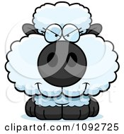 Clipart Sly Baby Sheep Royalty Free Vector Illustration by Cory Thoman