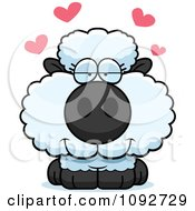 Clipart Cute Baby Sheep In Love Royalty Free Vector Illustration