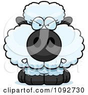 Clipart Mad Baby Sheep Royalty Free Vector Illustration by Cory Thoman