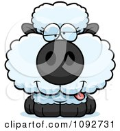 Clipart Goofy Baby Sheep Royalty Free Vector Illustration