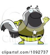 Chubby Super Skunk Waving