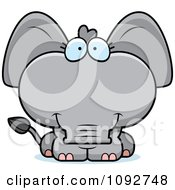 Clipart Cute Baby Elephant Royalty Free Vector Illustration