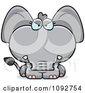 Clipart Mad Baby Elephant Royalty Free Vector Illustration
