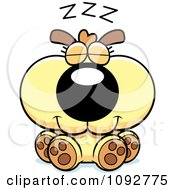 Clipart Cute Dog Sleeping Royalty Free Vector Illustration