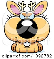 Clipart Sly Jackalope Royalty Free Vector Illustration by Cory Thoman