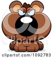 Clipart Mad Bear Cub Royalty Free Vector Illustration