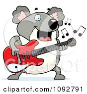 Clipart Chubby Koala Guitarist Royalty Free Vector Illustration by Cory Thoman