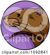 Clipart Rat Chinese Zodiac Circle Royalty Free Vector Illustration by BNP Design Studio