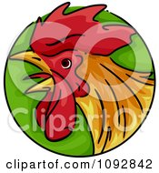 Clipart Rooster Chinese Zodiac Circle Royalty Free Vector Illustration by BNP Design Studio