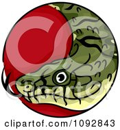 Clipart Snake Chinese Zodiac Circle Royalty Free Vector Illustration by BNP Design Studio