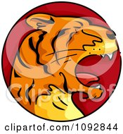 Clipart Tiger Chinese Zodiac Circle Royalty Free Vector Illustration by BNP Design Studio