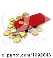 Clipart 3d Golden Chinese New Year Coins And A Red Envelope Royalty Free CGI Illustration