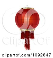 Clipart 3d Red Chinese Festival Lantern Royalty Free CGI Illustration by BNP Design Studio