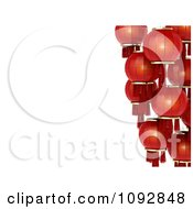 Clipart Border Of Red 3d Chinese Lanterns Royalty Free CGI Illustration by BNP Design Studio