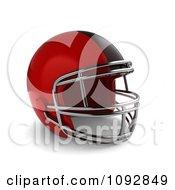 Clipart 3d Red Football Helmet Royalty Free CGI Illustration