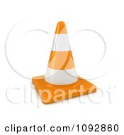 Clipart 3d Traffic Cone Royalty Free CGI Illustration