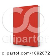 Clipart 3d Red Hardback Book Royalty Free CGI Illustration