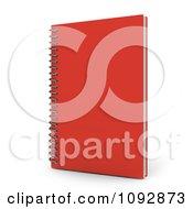 3d Red Spiral Notebook