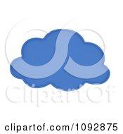 3d Blue Computing Cloud