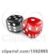 3d Red And Black Dice