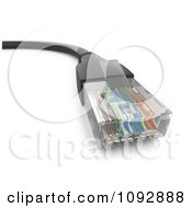 Clipart 3d Black Ethernet Cable Royalty Free CGI Illustration