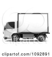 Clipart 3d Mobile Billboard Advertising Truck 1 Royalty Free CGI Illustration