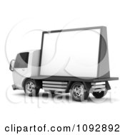 Clipart 3d Mobile Billboard Advertising Truck 2 Royalty Free CGI Illustration