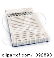 Clipart 3d Spiral Notepad With Ruled Pages 2 Royalty Free CGI Illustration