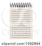 Clipart 3d Spiral Notepad With Ruled Pages 1 Royalty Free CGI Illustration