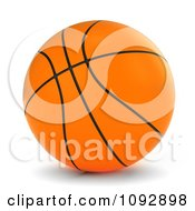 Clipart 3d Orange Basketball Royalty Free CGI Illustration