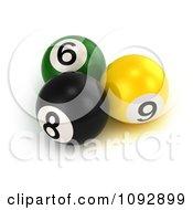 3d Billiards Pool Balls