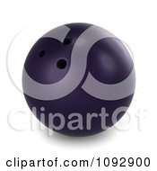 Clipart 3d Purple Bowling Ball Royalty Free CGI Illustration