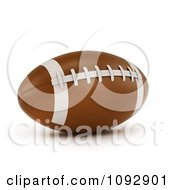 Clipart 3d Football Royalty Free CGI Illustration