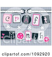 Clipart Craft Month Buttons And Design Elements Royalty Free Vector Illustration