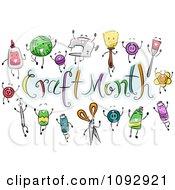 Craft Items Around Craft Month Text