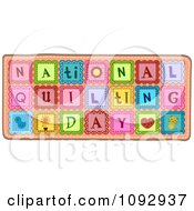 Patches Spelling National Quilting Day