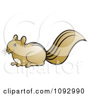 Clipart Brown Squirrel Royalty Free Vector Illustration by Lal Perera